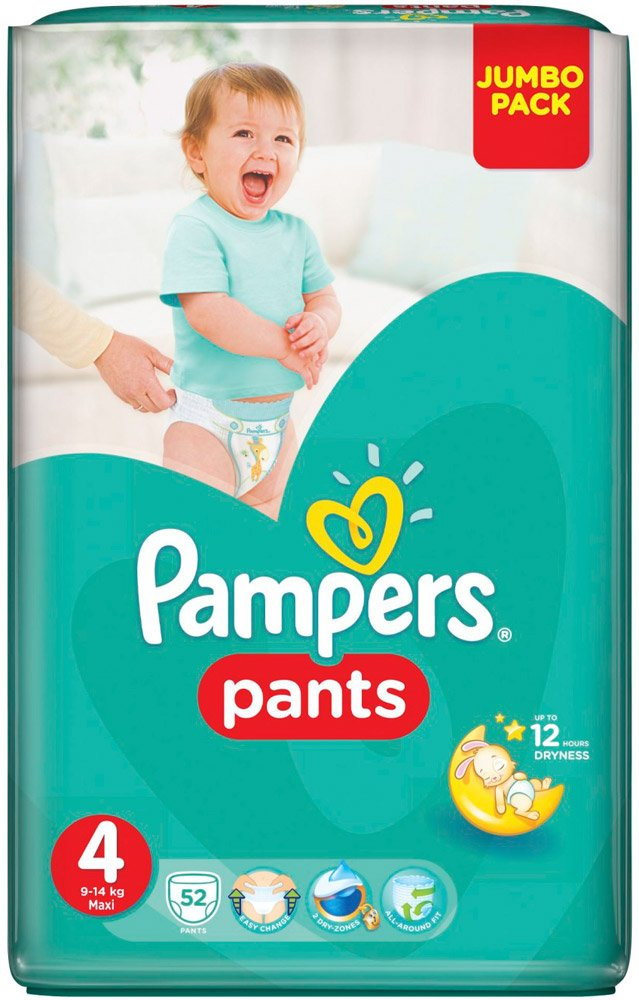 Трусики Pampers Pants 4 Maxi (9-14 кг) 52 шт