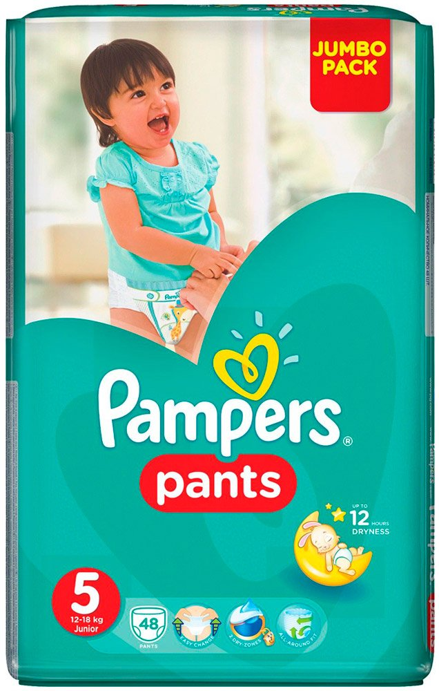 Трусики Pampers Pants 5 Junior (12-18 кг) 48 шт фото