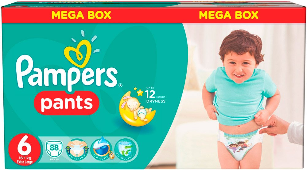 Трусики Pampers Pants 6 Extra Large (16+ кг) 88 шт
