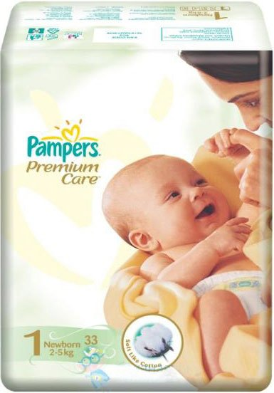 Подгузники Pampers Premium Care 1 Newborn (2-5 кг) 33 шт фото