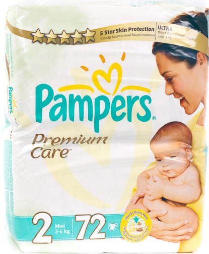 Подгузники Pampers Premium Care 2 Mini (3-6 кг) 72 шт