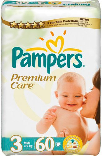 Подгузники Pampers Premium Care 3 Midi (4-9 кг) 60 шт
