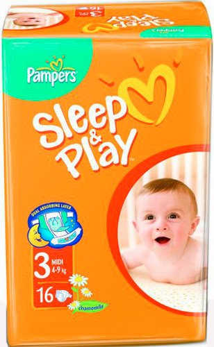 Подгузники Pampers Sleep & Play 3 Midi (4-9 кг) 16 шт фото