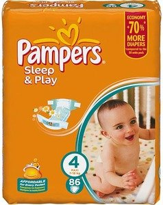 Подгузники Pampers Sleep & Play 4 Maxi (7-18 кг) Giant 86 шт