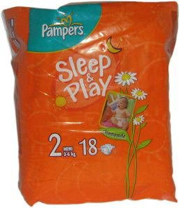 Подгузники Pampers Sleep & Play 2 Mini (3-6 кг) 18 шт