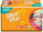Подгузники Pampers Sleep & Play 2 Mini (3-6 кг) 37 шт фото