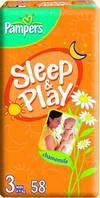 Подгузники Pampers Sleep & Play 3 Midi (4-9 кг) 58 шт