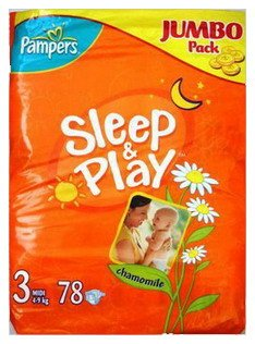 Подгузники Pampers Sleep & Play 3 Midi (4-9 кг) Jumbo Pack 78 шт