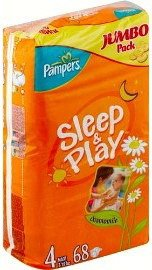 Подгузники Pampers Sleep & Play 4 Maxi (7-18 кг) Jumbo Pack 68 шт