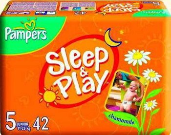 Подгузники Pampers Sleep & Play 5 Junior (12-25 кг) 42 шт