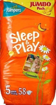 Подгузники Pampers Sleep & Play 5 Junior (12-25 кг) Jumbo Pack 58 шт