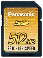 Карта памяти Panasonic SD PRO HIGH SPEED RP-SDK512