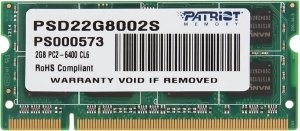 Модуль памяти Patriot PSD22G8002S DDR2 PC-6400 2Gb