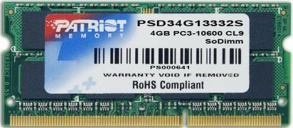 Модуль памяти Patriot PSD34G13332S DDR3 PC3-10600 4Gb