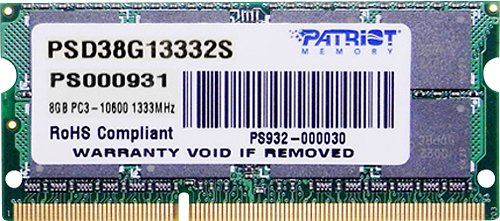 Модуль памяти Patriot PSD38G13332S DDR3 PC-10600 8Gb