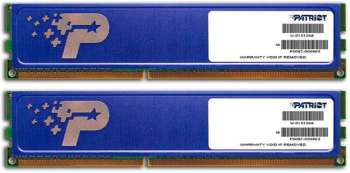 Модуль памяти Patriot PSD38G1333KH DDR3 PC-10600 2x4Gb