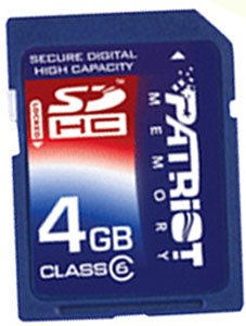 Карта памяти Patriot Signature Flash 4GB SDHC (PSF4GSDHC6)