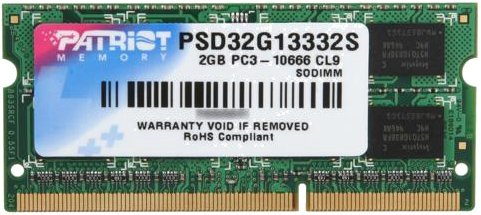 Модуль памяти Patriot Signature PSD32G13332S DDR3 PC3-10600 2Gb фото