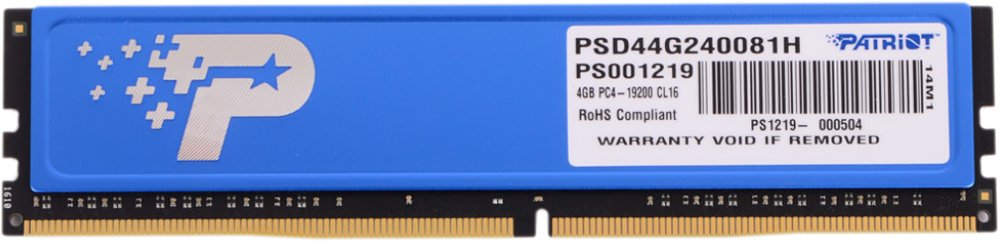 Модуль памяти Patriot Signature PSD44G240081H DDR4 PC4-19200 4Gb