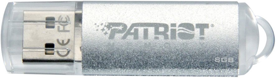 USB-флэш накопитель Patriot Xporter Pulse Silver 8GB (PSF8GXPPUSB)