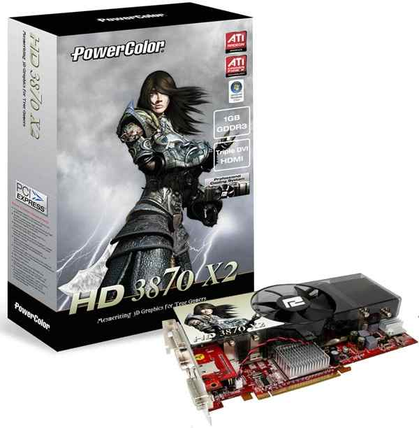 Видеокарта PowerColor AX3870X2 1GBD3-PH Radeon HD3870 X2 1024Mb 256bit