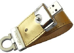 USB-флэш накопитель Prestigio Leather Data Flash Limited Edition 2GB (PLDF2GBSIGOLD)