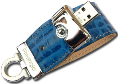 USB-���� ���������� Prestigio Leather Data Flash Limited Edition 8GB (PLDF8GBCRBLUE)