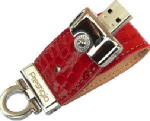USB-флэш накопитель Prestigio Leather Data Flash Limited Edition 8GB (PLDF8GBCRRED)