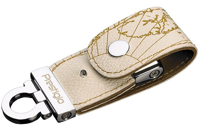 USB-флэш накопитель Prestigio Leather Flash Drive White 8GB PLDF08MPWHT3A