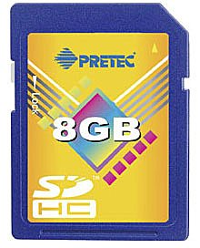 ����� ������ Pretec Secure Digital HC 8GB