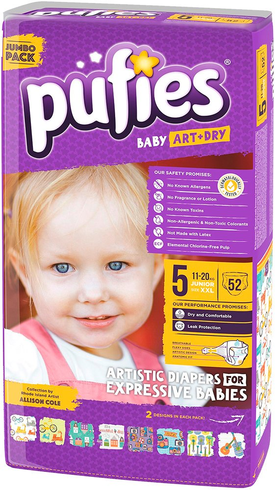Подгузники Pufies Baby Art&Dry Junior 5 (11-20 кг) 52 шт