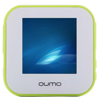 Плеер qumo boxon plastic 4gb white-green