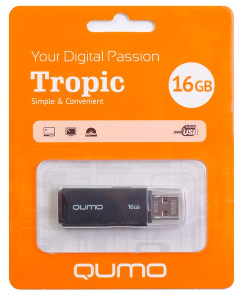 USB-флэш накопитель Qumo Tropic 16Gb (QM16GUD-TRP)