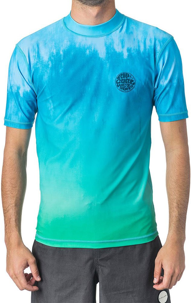 Гидромайка Rip Curl Faded S/S UV Tee (aqua, 2018) фото