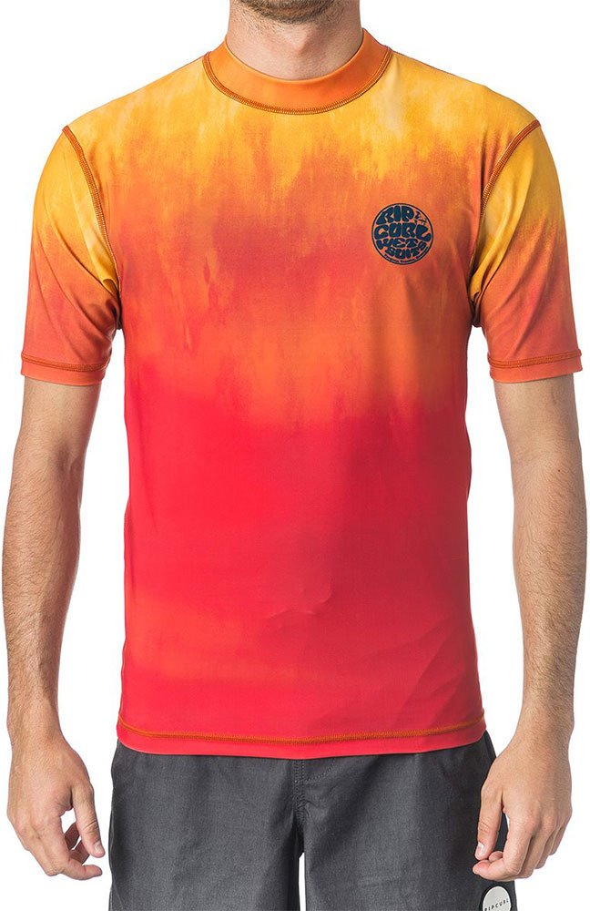 Гидромайка Rip Curl Faded S/S UV Tee (orange, 2018) фото