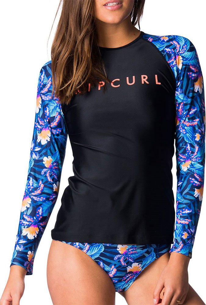 Гидромайка Rip Curl Wms Tropic Tribe Relaxed L/S UV Tee (navy, 2018) фото