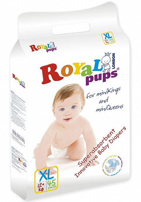 Подгузники ROYAL PUPS XL (12+кг) 45 шт
