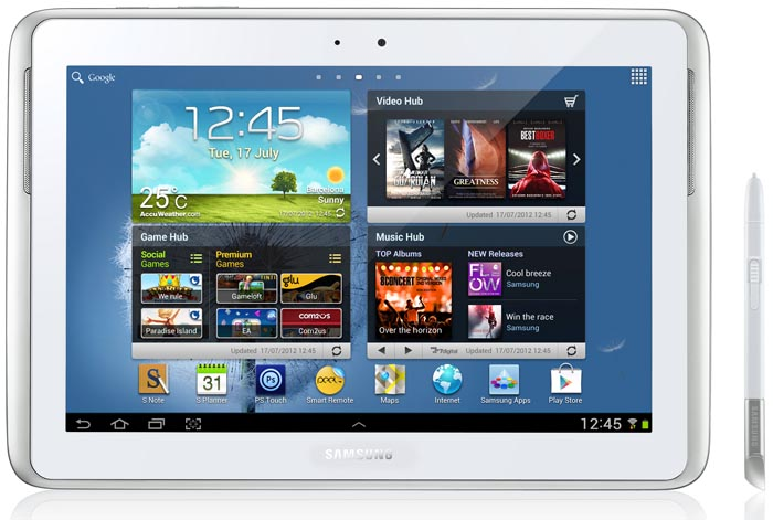 Планшет Samsung Galaxy Note 10.1 64GB 3G Pearl White (GT-N8000)