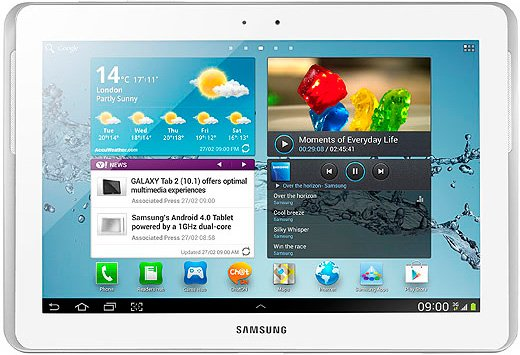 Планшет Samsung Galaxy Tab 2 10.1 16Gb 3G Pure White (GT-P5100)