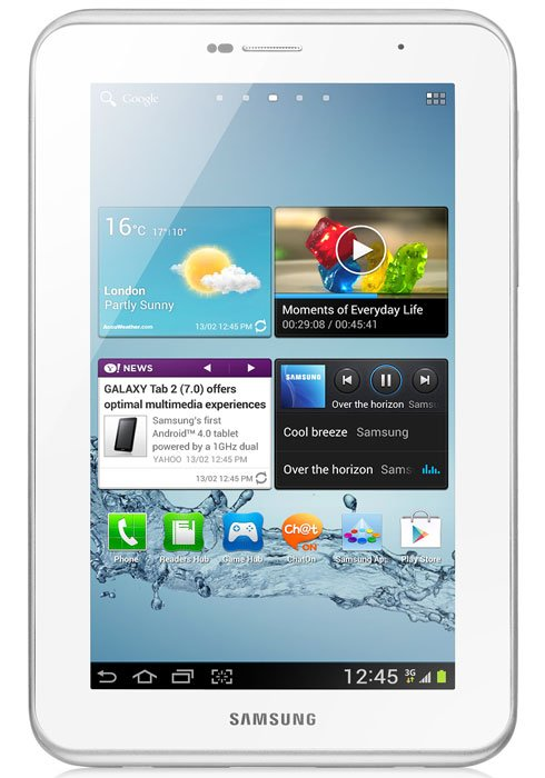 Планшет Samsung Galaxy Tab 2 7.0 8GB 3G Pure White (GT-P3100) фото