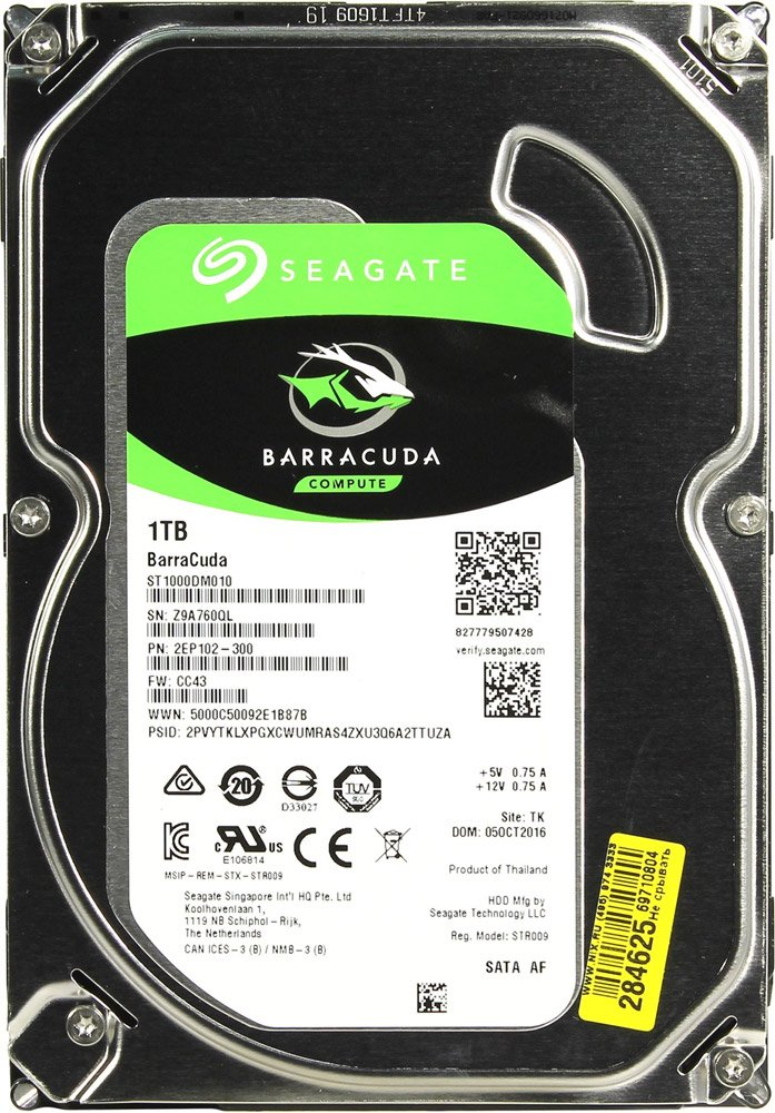 Жесткий диск Seagate Barracuda (ST1000DM010) 1000Gb