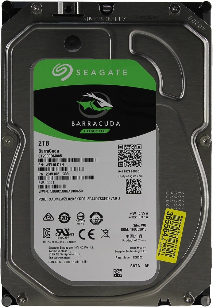 Жесткий диск Seagate Barracuda (ST2000DM005) 2000Gb фото