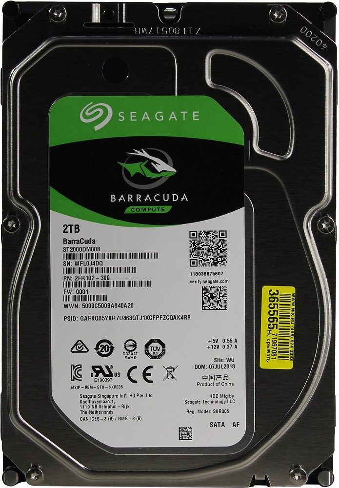 Жесткий диск Seagate Barracuda (ST2000DM008) 2000Gb фото