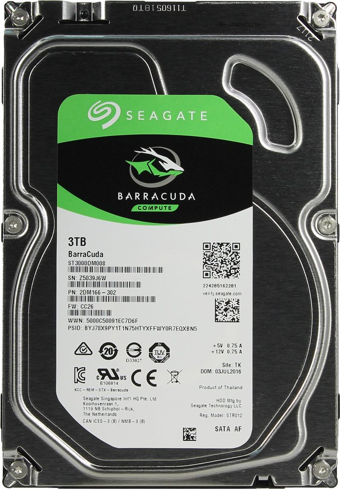 Жесткий диск Seagate Barracuda (ST3000DM008) 3000Gb