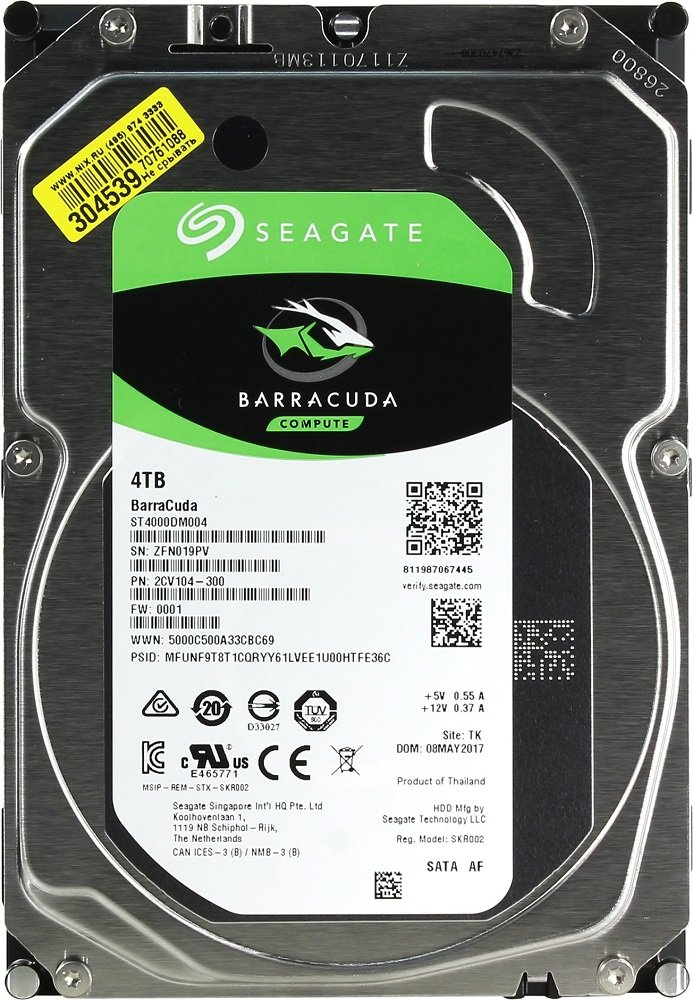 Жесткий диск Seagate Barracuda (ST4000DM004) 4000Gb