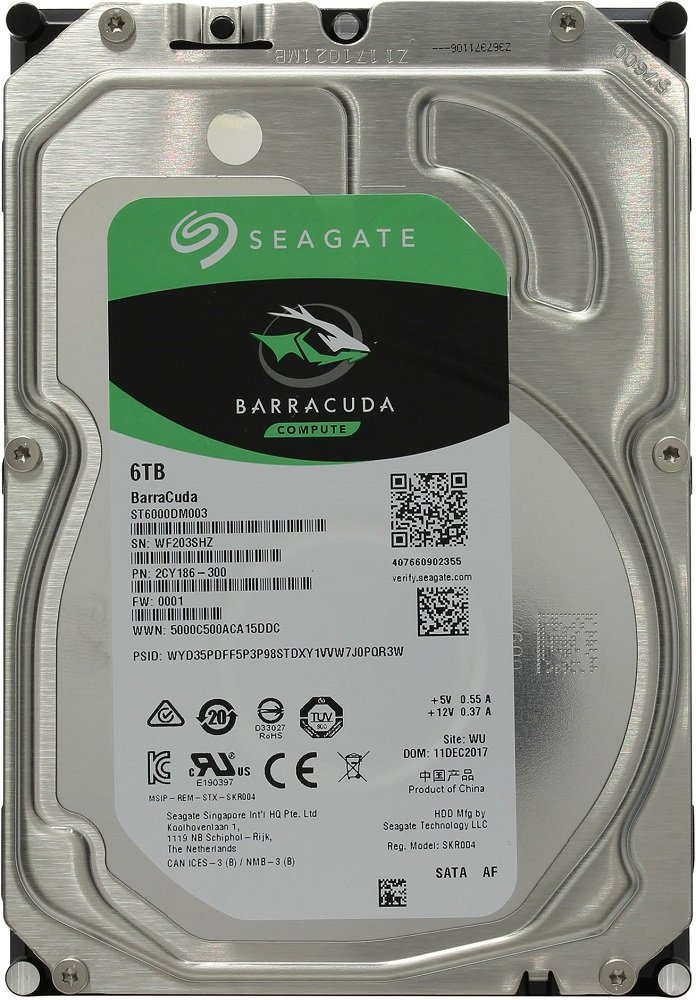 Жесткий диск Seagate Barracuda (ST6000DM003) 6000Gb