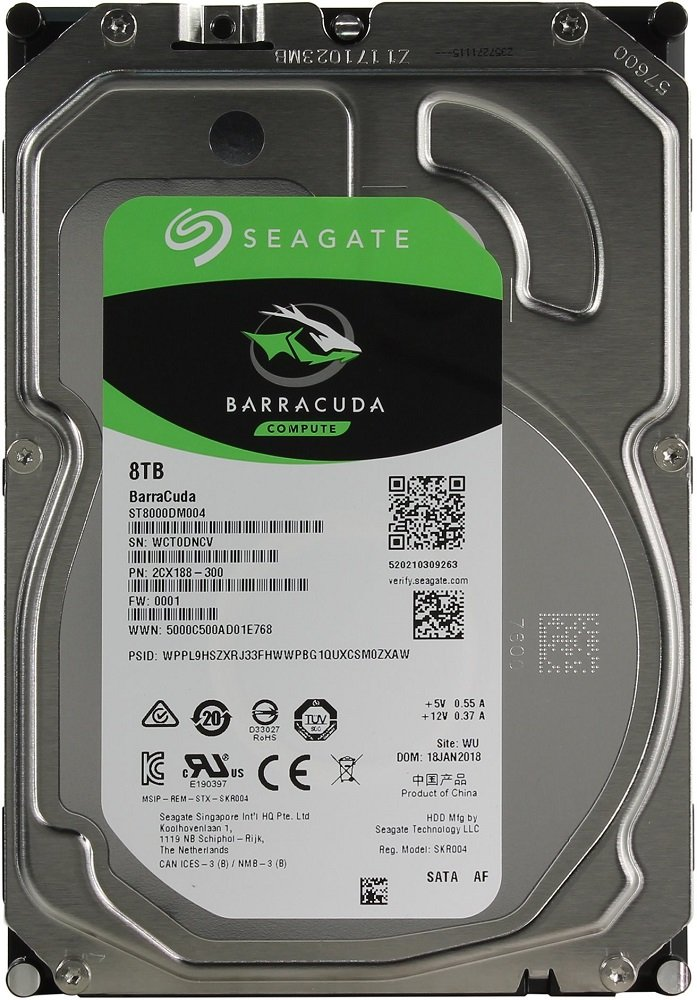 Жесткий диск Seagate Barracuda (ST8000DM004) 8000Gb