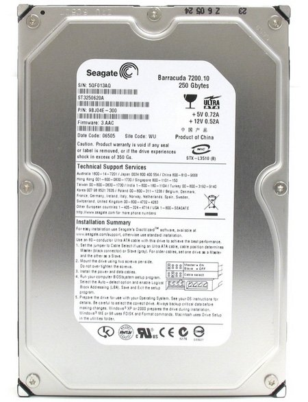 ������� ���� Seagate Barracuda 7200.10 ST3250620A 250 Gb