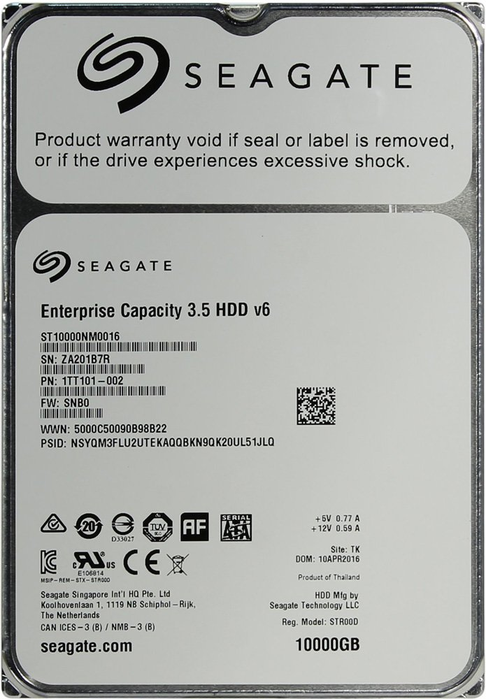 Жесткий диск Seagate Enterprise Capacity (ST10000NM0016) 10000Gb