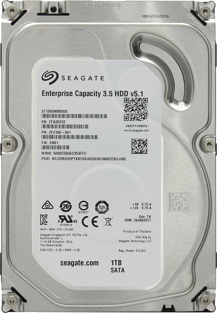 Жесткий диск Seagate Enterprise Capacity (ST1000NM0008) 1000Gb